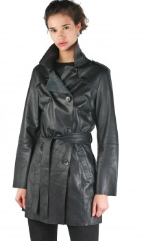 Trench Cuir Giorgio Coralie