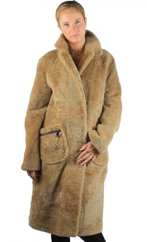 Manteau Femme Peau Lainée Agneau Lola
