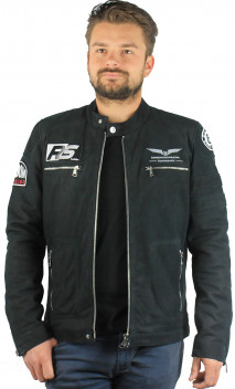 Blouson Cuir Homme Luther Redskins