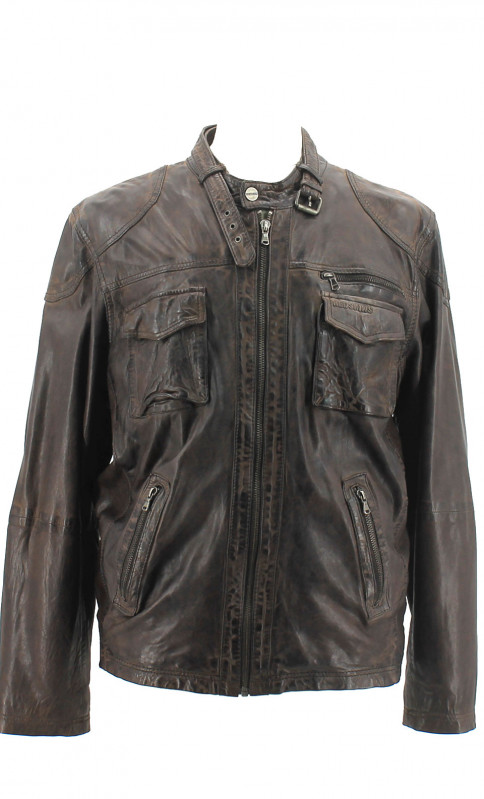 Blouson Cuir Homme Redskins Woster