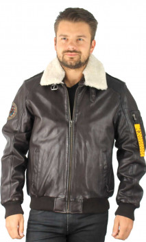 Blouson Cuir Homme Aviateur Milestone 20270